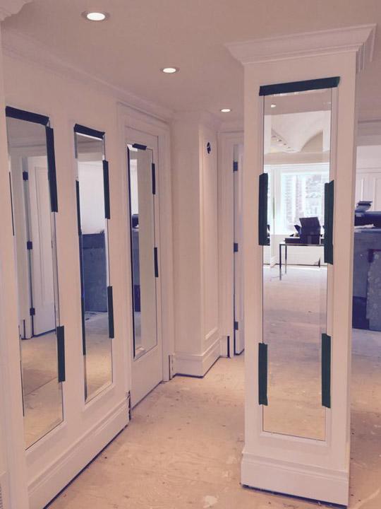 Galerie photos de miroirs sur mesure vitrerie des experts for Miroir sur mesure montreal